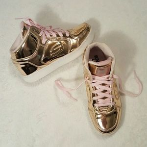SKECHERS Rose Gold Energy Lights
